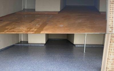 Whispering Lakes 4 Car Garage Floor Makeover