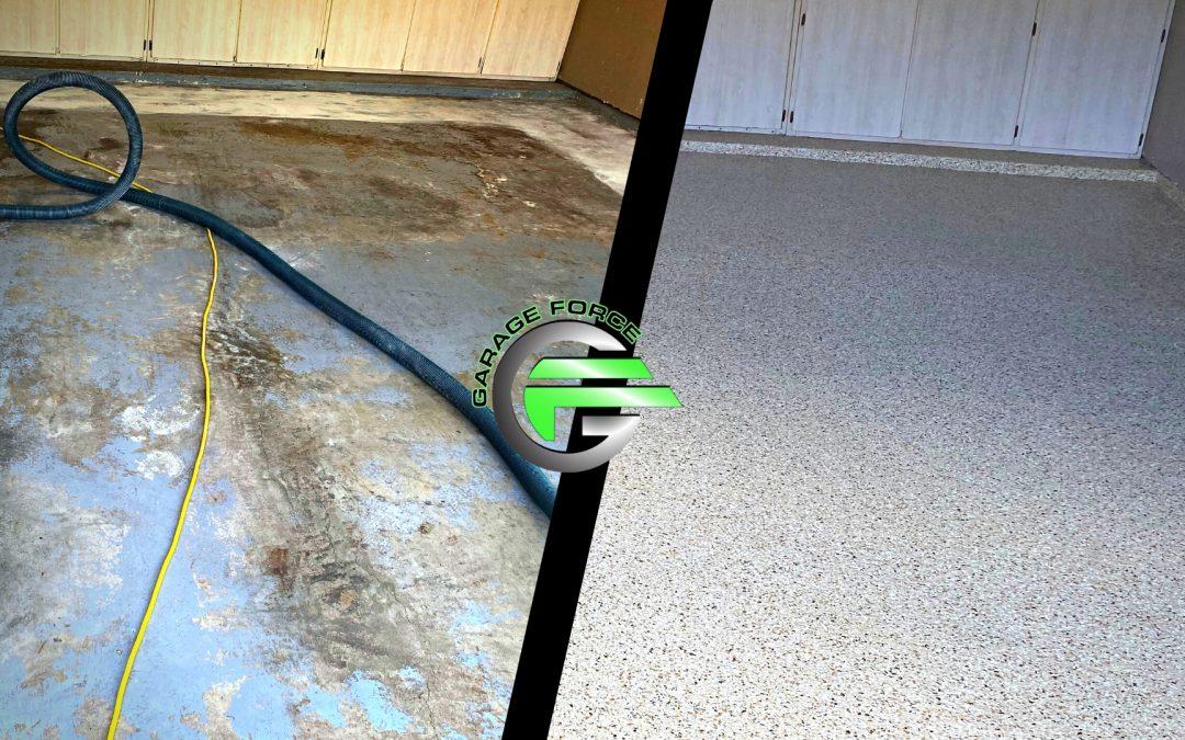 Dramatic Galveston Garage Floor Makeover